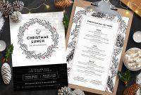 Christmas Menu Templates In Psd Ai  Vector  Brandpacks within Christmas Day Menu Template