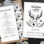 Christmas Day Menu Template