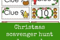 Christmas Scavenger Hunt Free Printable Clue Cards For Kids  Aaa for Clue Card Template