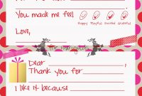 Christmas Thank You Note Template For Kids  Five Marigolds  Baby throughout Christmas Thank You Card Templates Free