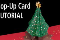 Christmas Tree Popup Card Tutorial  Youtube throughout 3D Christmas Tree Card Template