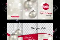 Christmas Trifold Brochure Template Abstract Flyer Design With inside Christmas Brochure Templates Free