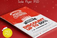 Christmas Winter Sale Flyer Psd Freebie  Psdfreebies with Christmas Brochure Templates Free