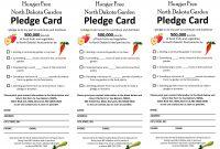 Church Pledge Card Template  Savethemdctrails for Pledge Card Template For Church