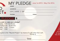 Church Pledge Form Template Hausnuc  Capital Campaign  Church intended for Building Fund Pledge Card Template