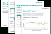 Cip R Malicious Code Prevention Report  Sc Report Template regarding Reliability Report Template