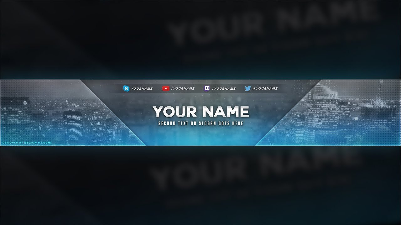 City Themed Youtube Banner Template  Free Download Psd  Youtube Regarding Yt Banner Template