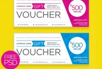 Clean And Modern Gift Voucher Template Psd  Psdfreebies for Company Gift Certificate Template