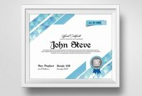 Clean Certificate Template  Vsual regarding Indesign Certificate Template