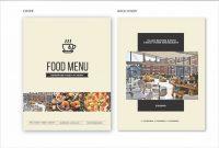 Clean  Fresh A  Us Letter Food Menu Template — Adobe Illustrator in Adobe Illustrator Menu Template