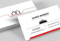Clean Illustrator Business Card Design With Free Template Download with Buisness Card Template