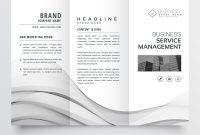Clean Minimal Trifold Brochure Template Layout Vector Image intended for Cleaning Brochure Templates Free