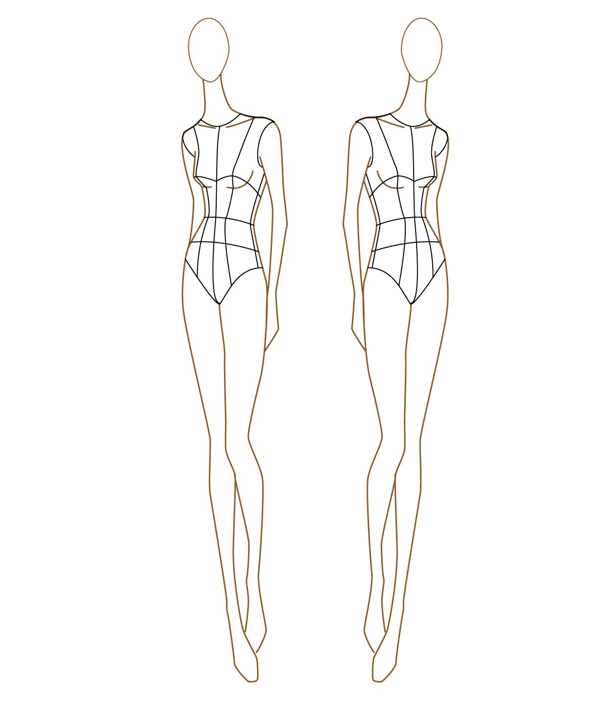 Clothing Model Sketch At Paintingvalley  Explore Collection Of Pertaining To Blank Model Sketch Template