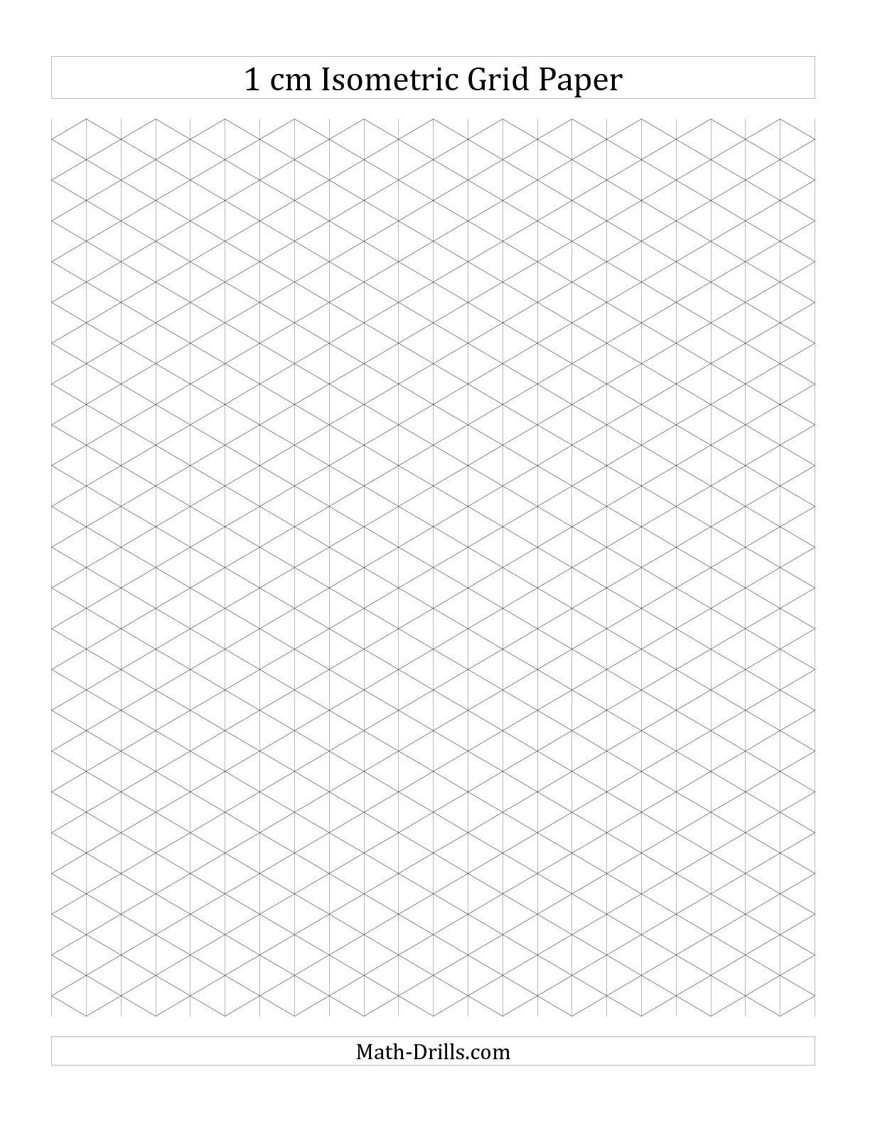 Cm Isometric Grid Paper Portrait A Math Worksheet Freemath intended for 1 Cm Graph Paper Template Word