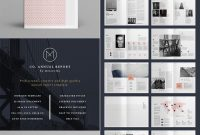 Co Minimal Annual Report Indesign Template Design  Design  Report for Free Indesign Report Templates