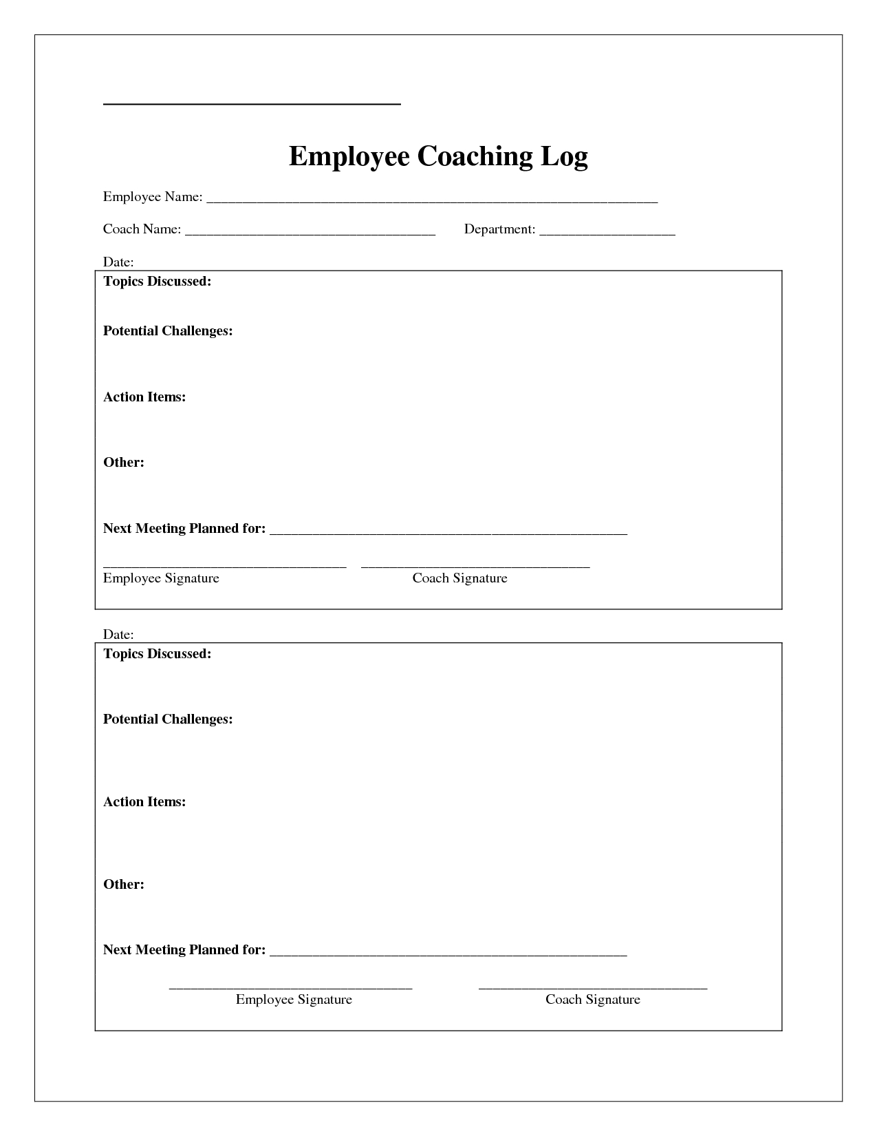 Coaching Log Template  Google Search  Coaching  Coaching Regarding Coaches Report Template