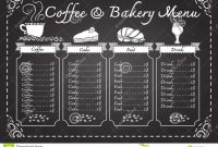 Coffee And Bakery Menu On Chalkboard Template  Download From Over throughout Free Bakery Menu Templates Download