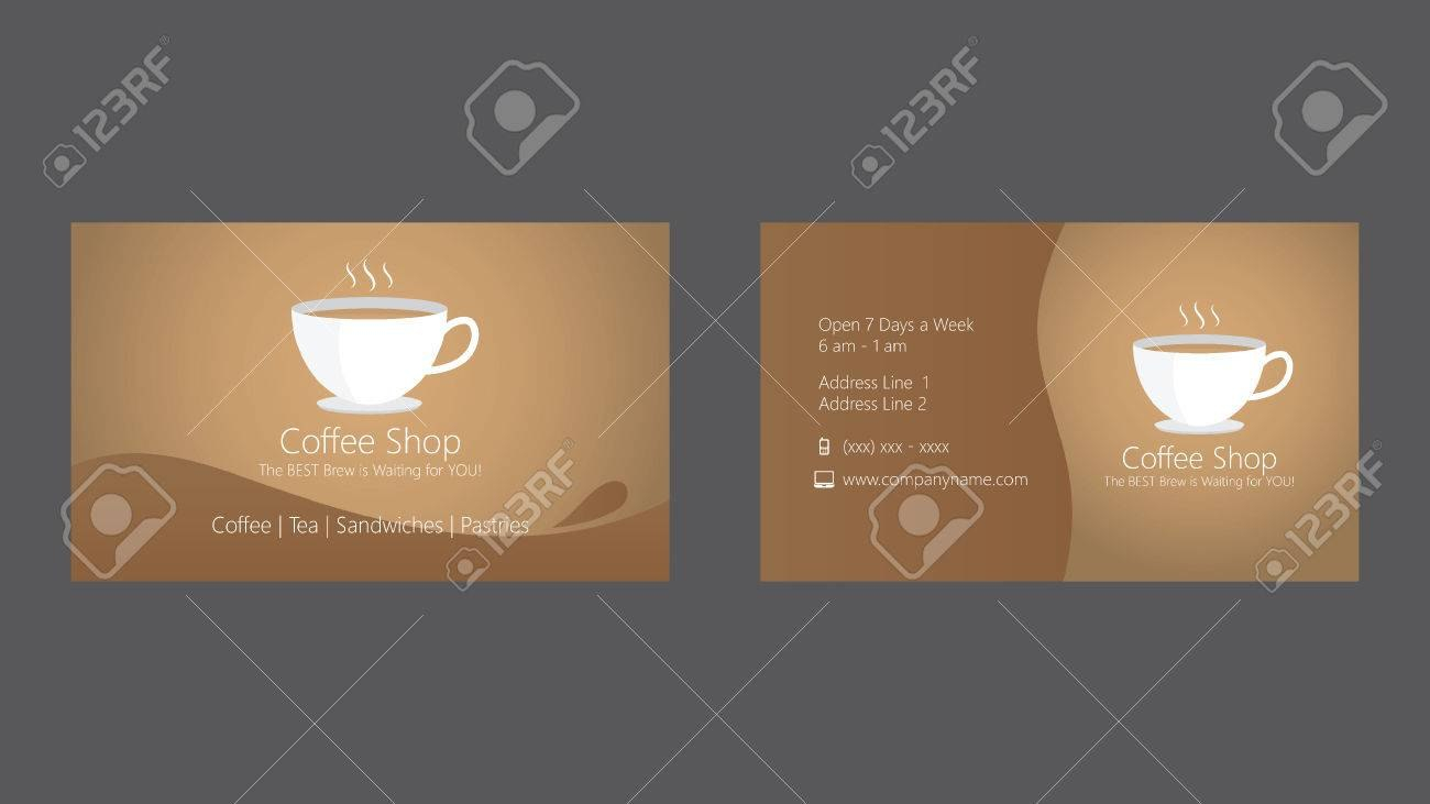 Coffee Shop Cafe Business Card Template Royalty Free Cliparts Intended For Coffee Business Card Template Free