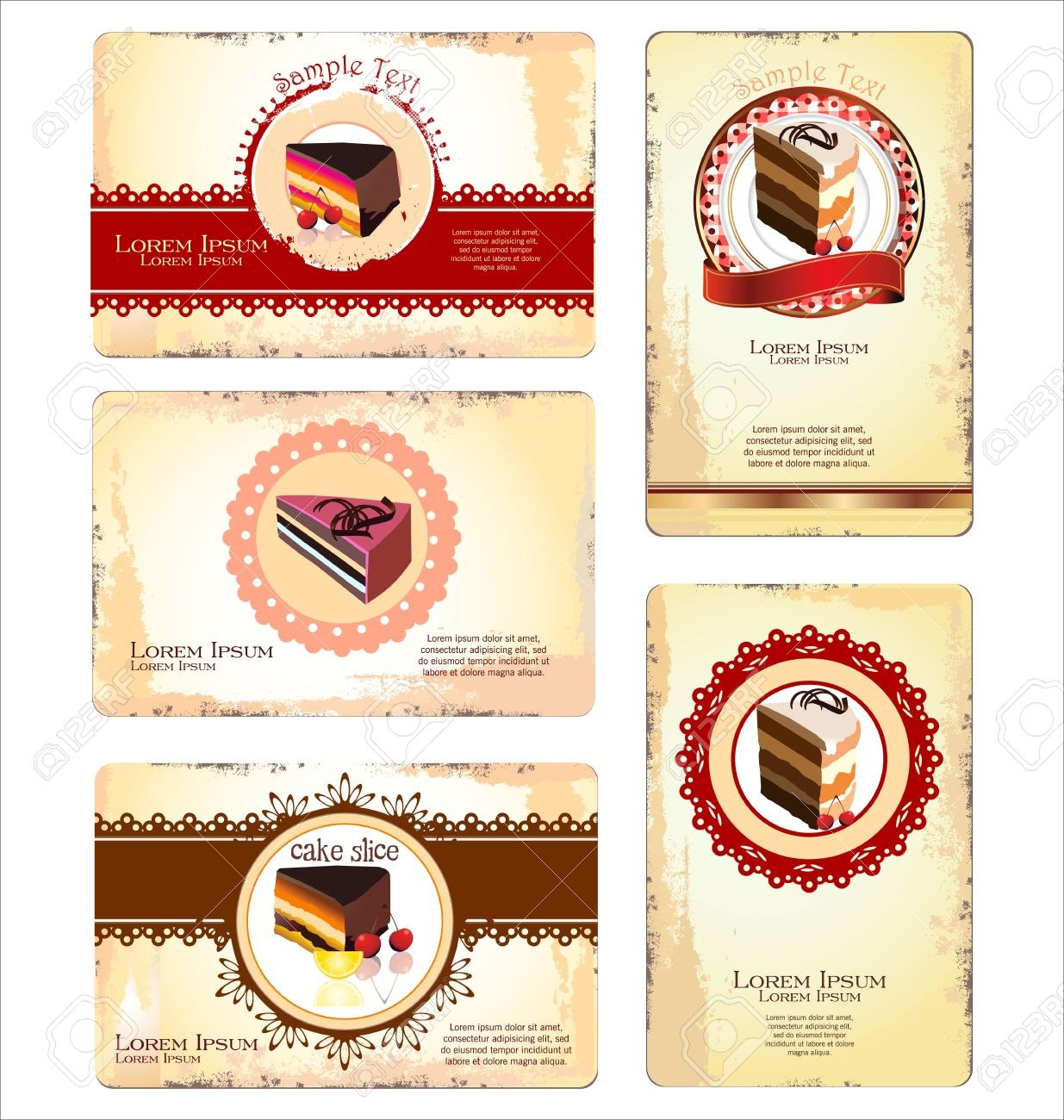 Coffeetea And Cakes Menu Or Business Card Template Royalty Free Intended For Cake Business Cards Templates Free
