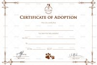 Collection Of Solutions For Blank Adoption Certificate Template With with regard to Blank Adoption Certificate Template