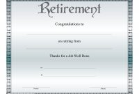 Collection Of Solutions For Retirement Certificate Templates In regarding Retirement Certificate Template