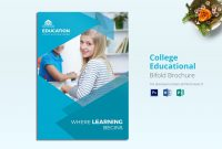 College Educational Brochure Template with Brochure Design Templates For Education