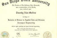 College Graduation Certificate Template  Mandegar intended for College Graduation Certificate Template