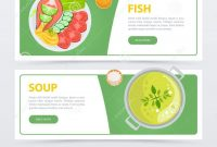 Colorful Horizontal Food Banner Template Stock Vector  Illustration within Food Banner Template