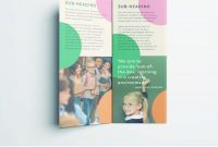 Colorful School Brochure  Tri Fold Template  Design  School inside School Brochure Design Templates