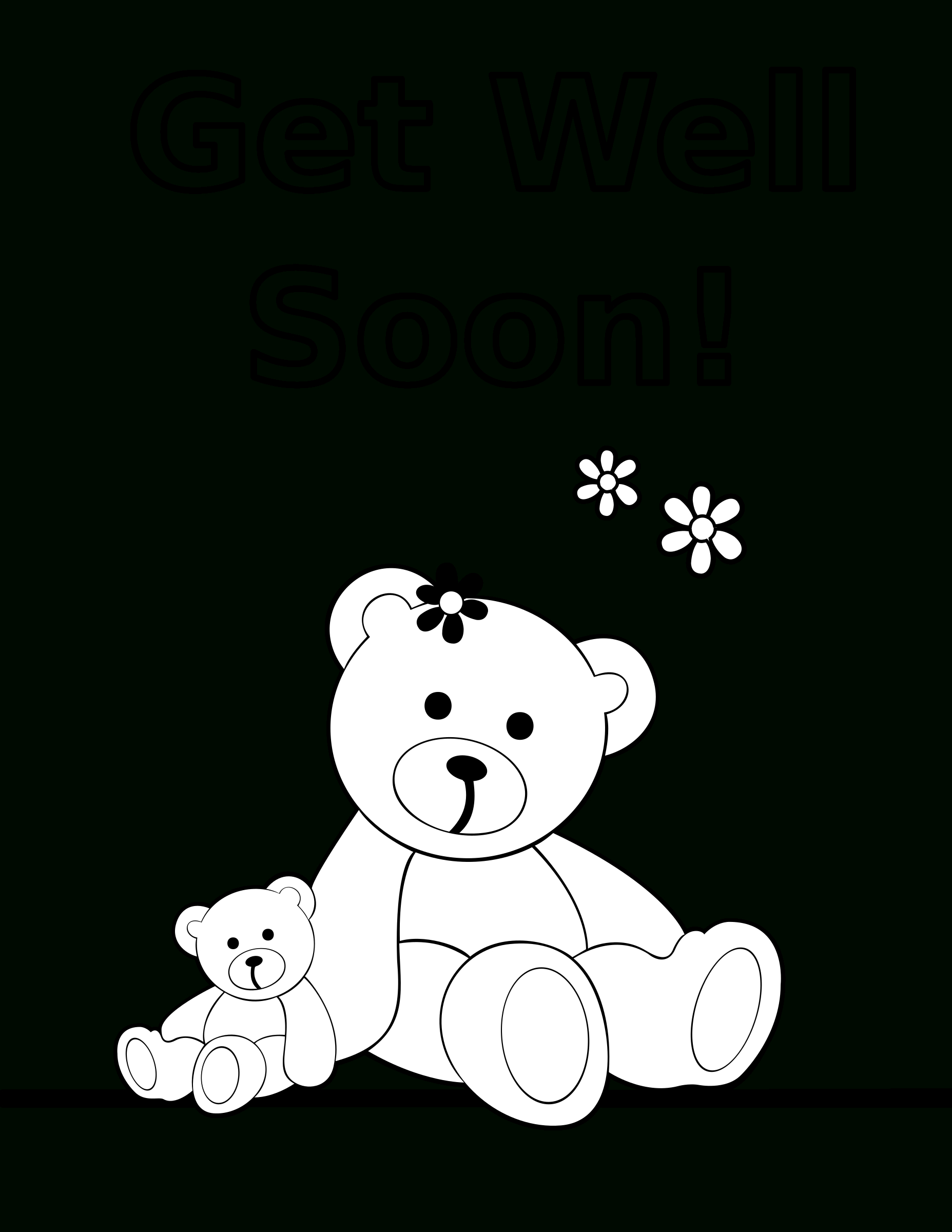Coloring Pages  Free Coloring Pageso Print Get Well Soon X For Within Get Well Soon Card Template