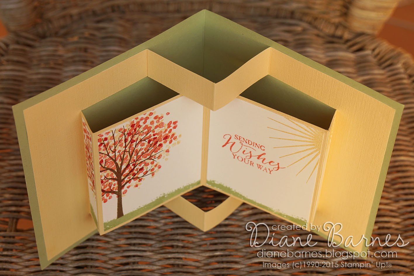 Colour Me Happy Sheltering Tree Pop Up Book Card  Template Pertaining To Fold Out Card Template