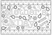 Colouring Mothers Day Card Free Printable Template for Mothers Day Card Templates