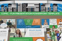 Comic  Fun Presentation Powerpoint Template with Comic Powerpoint Template