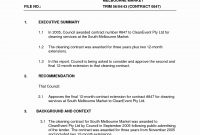 Commercial Cleaning Contract Template Example Free – Wfacca within Free Commercial Cleaning Contract Templates