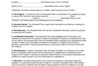Commercial Real Estate Nondisclosure Agreement Nda – Buyers And in Financial Confidentiality Agreement Template