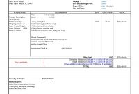 Commercial Shipping Invoice Filename  Fabulousfloridakeys with International Shipping Invoice Template