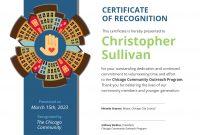 Community Volunteer Certificate Of Recognition Template Template within Volunteer Certificate Template