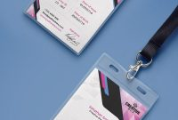 Company Photo Identity Card Psd Template  Digital Conference within Conference Id Card Template
