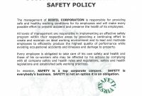 Company Safety Policy Template regarding Health And Safety Policy Template For Small Business