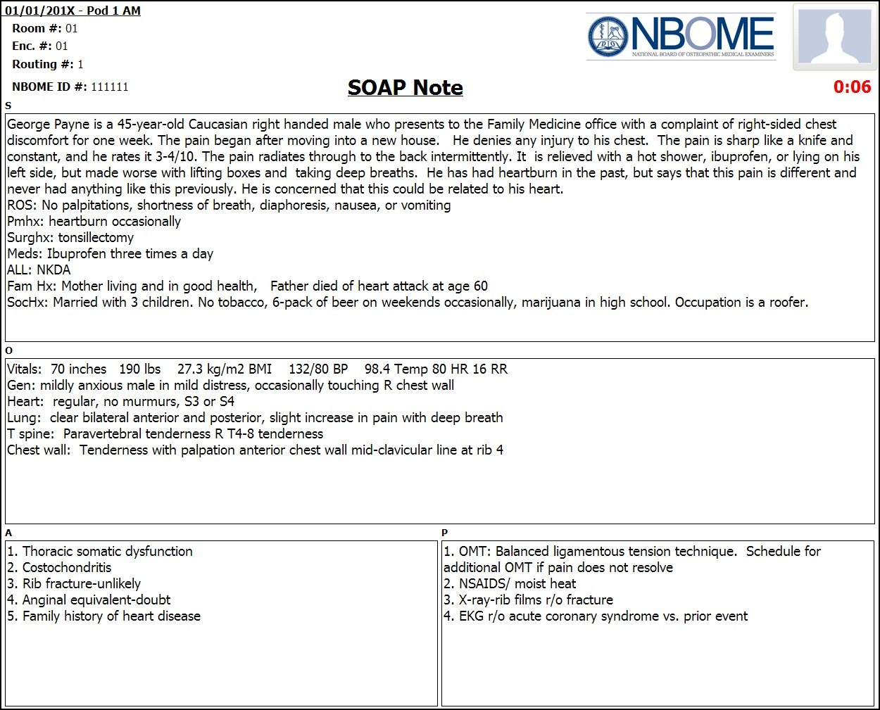 Completed Esoap Note Sample — Nbome With Regard To Soap Report Template