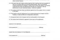 Composer Agreement  Templates Hunter throughout Songwriter Agreement Template