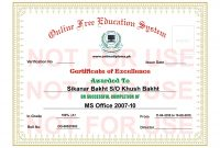 Computer Diploma Certificate Format In Word  Ephesustourcc regarding Word 2013 Certificate Template