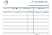 Computer Service Invoice Template  Download intended for Maintenance Invoice Template Free