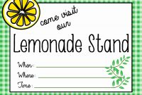 Concession Stand Flyer Template Beautiful Printable Lemonade Stand Pertaining To Concession Stand Menu Template