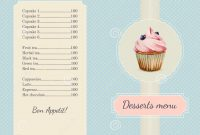 Confectionery Menu Template With Watercolor Stock Vector with Free Bakery Menu Templates Download