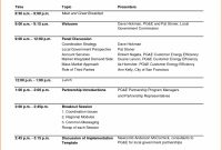 Conference Agenda Template Word regarding Event Agenda Template Word