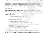 Confidentiality Agreement Template  Free Sample Confidentiality intended for Legal Undertaking Template