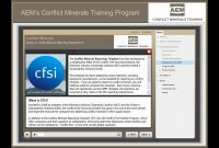 Conflict Minerals Training  Aem  Association Of Equipment intended for Conflict Minerals Reporting Template