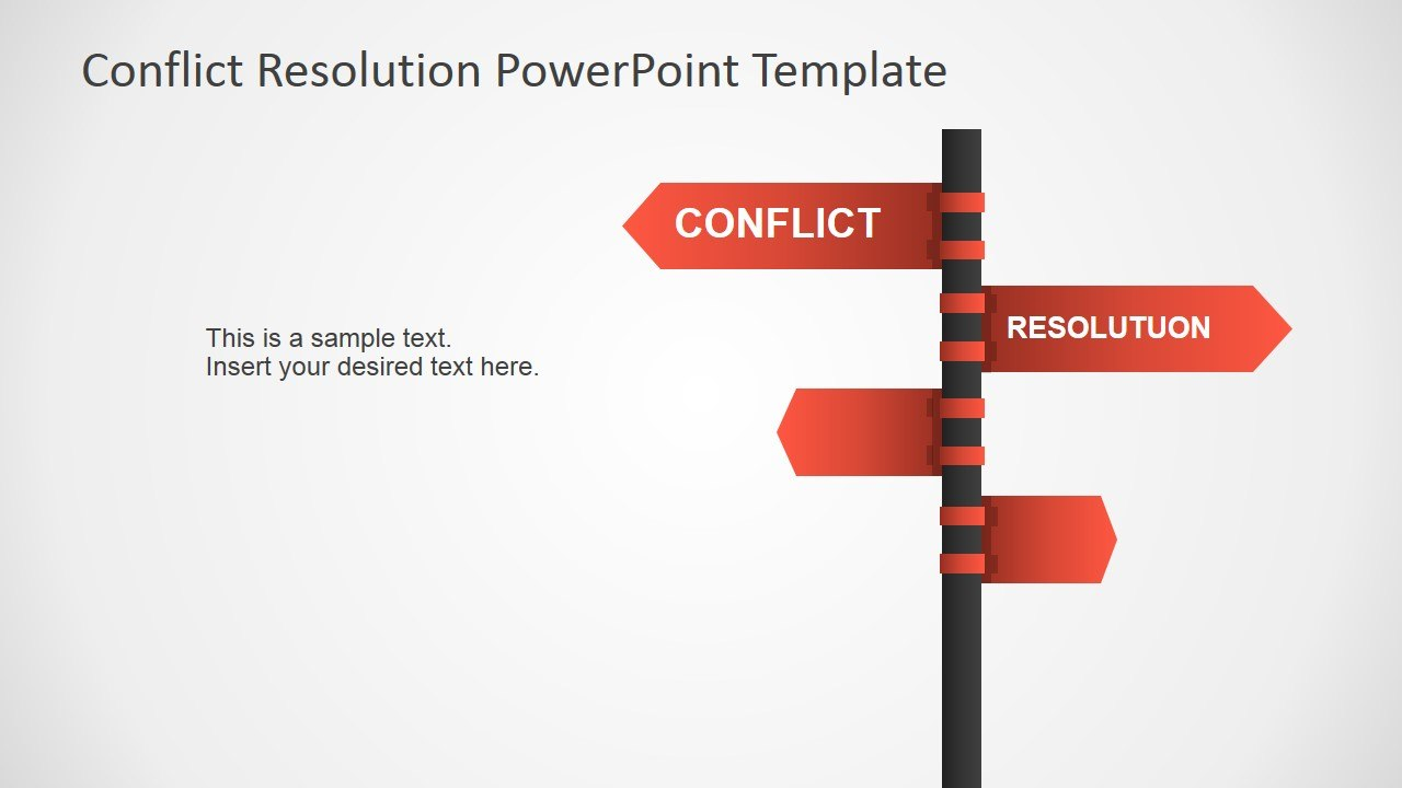 Conflict Resolution Powerpoint Template  Slidemodel Pertaining To Powerpoint Template Resolution