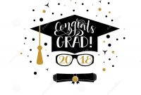 Congrats Grad  Lettering Congratulations Graduate Banner with regard to Graduation Banner Template